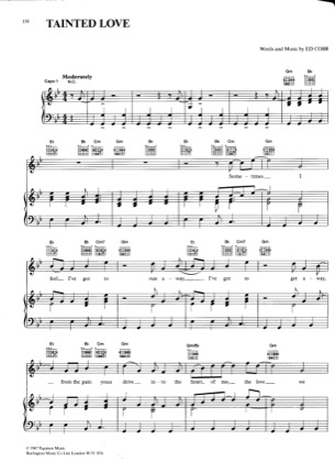 Thumbnail of first page of Tainted Love piano sheet music PDF by Pussy Cat Dolls.