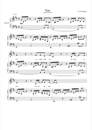 Thumbnail of first page of You piano sheet music PDF by Ten Sharp.