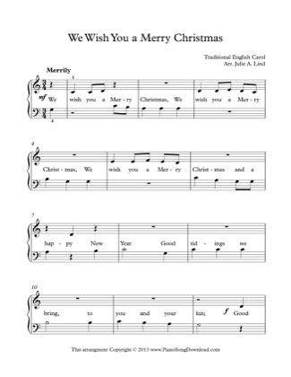 Thumbnail of first page of We Wish You a Merry Christmas (2) piano sheet music PDF by Christmas.