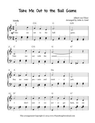 Thumbnail of first page of Take Me Out To The Ball Game piano sheet music PDF by Traditional.