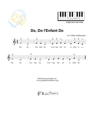 Thumbnail of first page of Do, Do, L'Enfant Do piano sheet music PDF by Kids.
