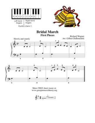 Thumbnail of first page of Bridal March piano sheet music PDF by Kids.