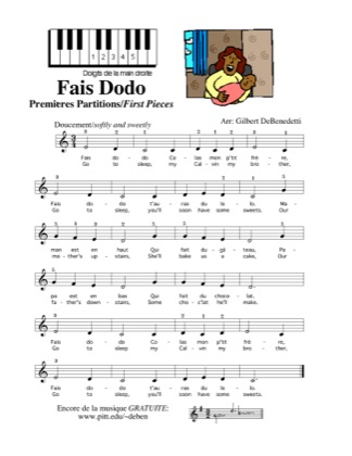 Thumbnail of first page of Fais Dodo piano sheet music PDF by Kids.