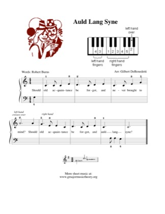 Thumbnail of first page of Auld Lang Syne (2) piano sheet music PDF by Traditional.