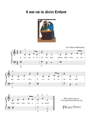 Thumbnail of first page of Il est ne le divin enfant piano sheet music PDF by Kids.