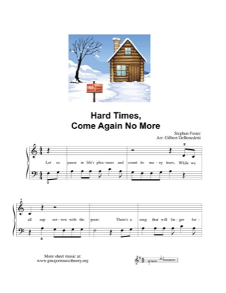 Thumbnail of first page of Hard Times, Come Again No More piano sheet music PDF by Kids.