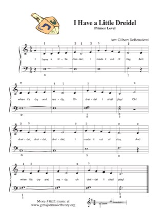 Thumbnail of first page of I Have a Little Dreidle piano sheet music PDF by Kids.