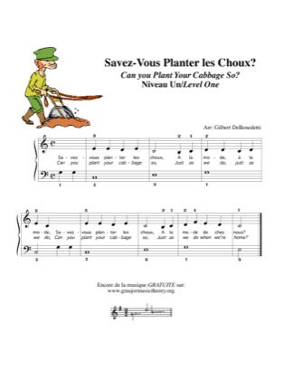 Thumbnail of first page of Savez-Vous Planter les Choux? / Can You Plant your Cabbage So? piano sheet music PDF by Kids.