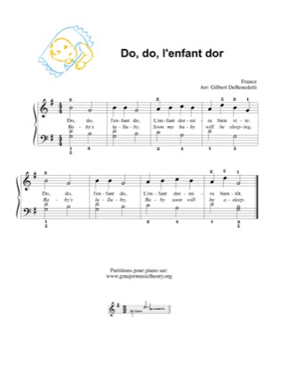 Thumbnail of first page of Do, do, l'enfant dor/Baby's lulluby piano sheet music PDF by Kids.