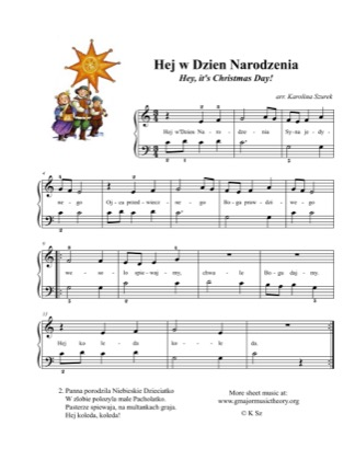 Thumbnail of first page of Hej w dzien narodzenia /Hey, it's Christmas Day! piano sheet music PDF by Kids.