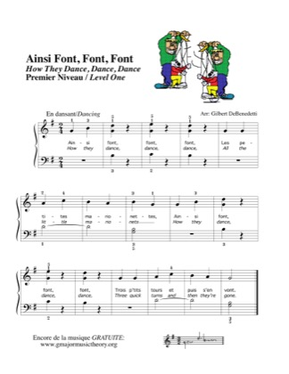 Thumbnail of first page of Ainsi Font, Font, Font How They Dance, Dance piano sheet music PDF by Kids.