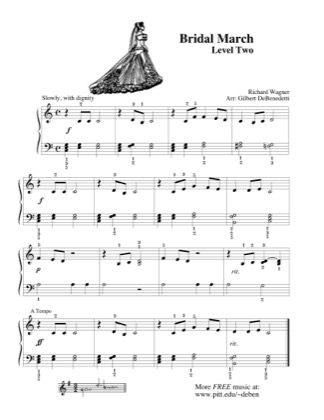 Thumbnail of first page of Bridal March (2) piano sheet music PDF by Kids.