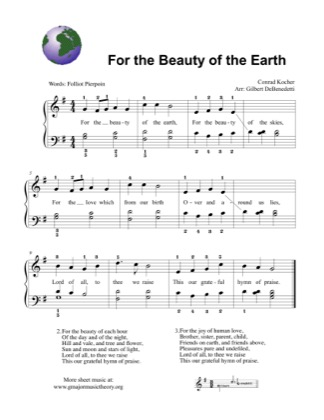 Thumbnail of first page of For the Beauty of the Earth (2) piano sheet music PDF by Kids.