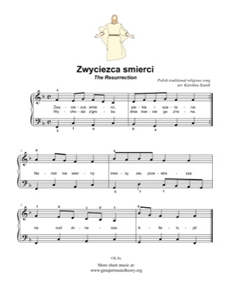 Thumbnail of first page of Zwyciezca smierci / The Resurrection piano sheet music PDF by Kids.