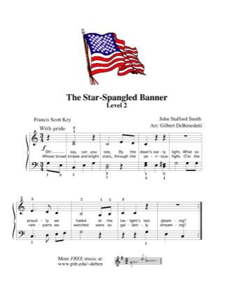 The Star Spangled Banner Kids Free Piano Sheet Music Pdf