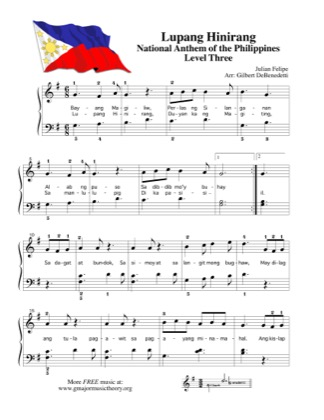 Thumbnail of first page of Lupang Hinirang, National Anthem of The Philippines piano sheet music PDF by Kids.