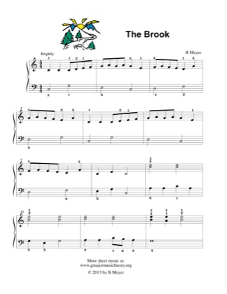 Thumbnail of first page of The Brook piano sheet music PDF by B Meyer.