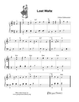 Thumbnail of first page of Lost Waltz piano sheet music PDF by Gil DeBenedetti.