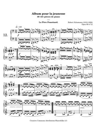 Thumbnail of first page of Knight Rupert piano sheet music PDF by Schumann.