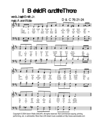 Thumbnail of first page of I Beheld Round The Throne piano sheet music PDF by Aaron Waite.