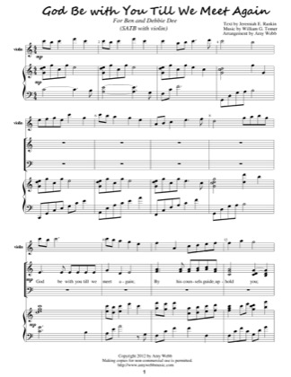 Thumbnail of first page of God Be With You Till We Meet Again piano sheet music PDF by Amy Webb.