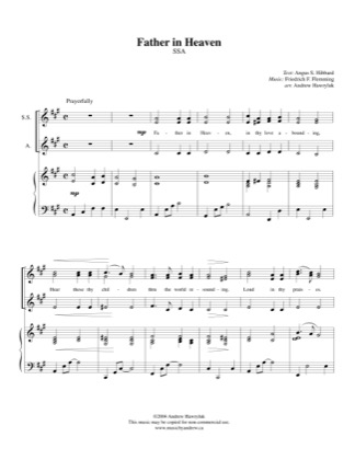 Thumbnail of first page of Father in Heaven piano sheet music PDF by Andrew Hawryluk.