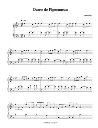 Thumbnail of first page of Danse de Pigeoneau piano sheet music PDF by Anne Britt.