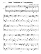 Thumbnail of First Page of Come, Thou Fount of Every Blessing sheet music by Amy Potter