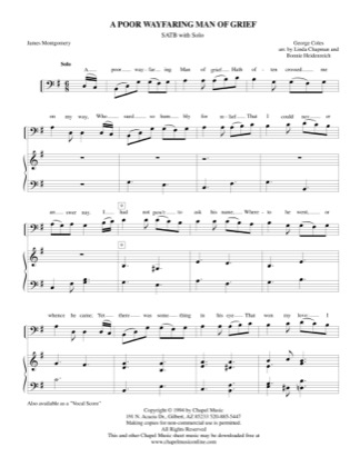 Thumbnail of first page of A Poor Wayfaring Man of Grief - STAB piano sheet music PDF by Bonnie Heidenreich.