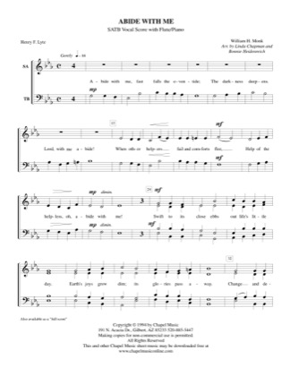 Thumbnail of first page of Abide With Me piano sheet music PDF by Bonnie Heidenreich.