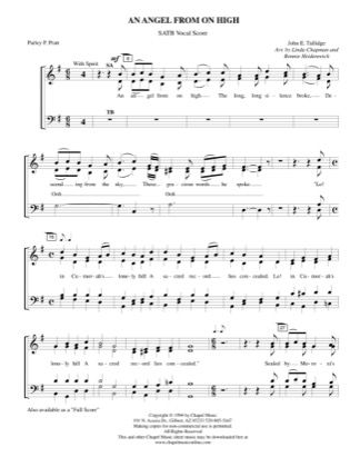 Thumbnail of first page of An Angel From On High (vocals) piano sheet music PDF by Bonnie Heidenreich.