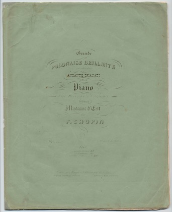 Thumbnail of first page of Andante Spianato et Grande Polonaise Brillante piano sheet music PDF by Chopin.