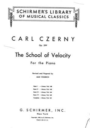 Thumbnail of first page of Book 1 (Nos.1-10) piano sheet music PDF by Czerny.