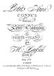 Thumbnail of First Page of Petits Airs Connus Varies sheet music by Dussek