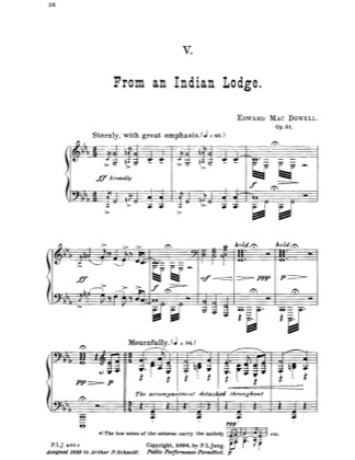 Thumbnail of first page of From An Indian Lodge piano sheet music PDF by Edward MacDowell.