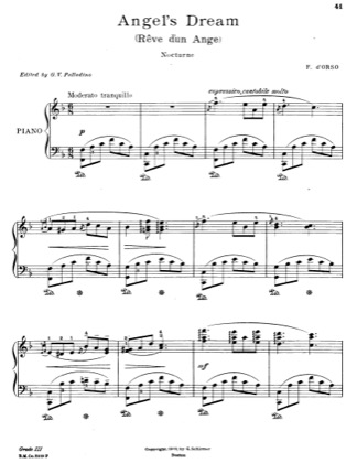 Print and download for free: Angel's Dream piano sheet music by F. D'orso.