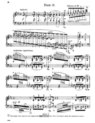 Thumbnail of first page of Etude No. 2 in E-flat major piano sheet music PDF by Liszt.