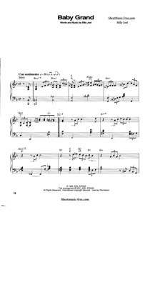 Thumbnail of first page of Baby Grand  piano sheet music PDF by Billy Joel.