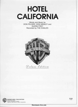 Thumbnail of first page of Hotel California  piano sheet music PDF by Eagles.