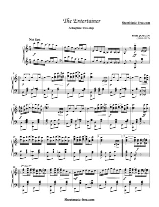 Thumbnail of first page of The Entertainer (3) piano sheet music PDF by Scott Joplin.