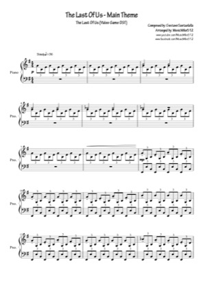 Thumbnail of first page of Main Theme piano sheet music PDF by The Last Of Us.