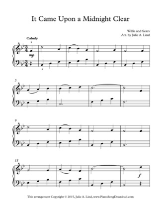 Thumbnail of first page of It Came Upon a Midnight Clear (3) piano sheet music PDF by Christmas.