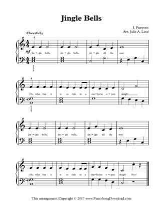 Thumbnail of first page of Jingle Bells (Kids Lvl 2) piano sheet music PDF by Christmas.