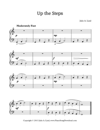 Thumbnail of first page of Up the Steps piano sheet music PDF by Kids (Lvl 1).