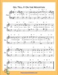 Thumbnail of First Page of Go Tell It On the Mountain Easy  (F Major) sheet music by Nursery Rhyme