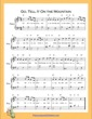 Thumbnail of First Page of Go Tell It On the Mountain Easy  (G Major) sheet music by Nursery Rhyme