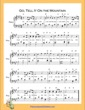 Thumbnail of First Page of Go Tell It On the Mountain  (A Major) sheet music by Nursery Rhyme