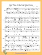 Thumbnail of First Page of Go Tell It On the Mountain  (B Flat Major) sheet music by Nursery Rhyme