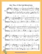 Thumbnail of First Page of Go Tell It On the Mountain  (E Major) sheet music by Nursery Rhyme