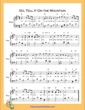 Thumbnail of First Page of Go Tell It On the Mountain  (G Major) sheet music by Nursery Rhyme